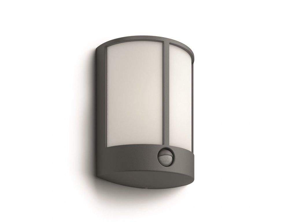PHILIPS 16465/93/16 venkovní LED svítidlo Stock s čidlem 1x6W IP44 2700K