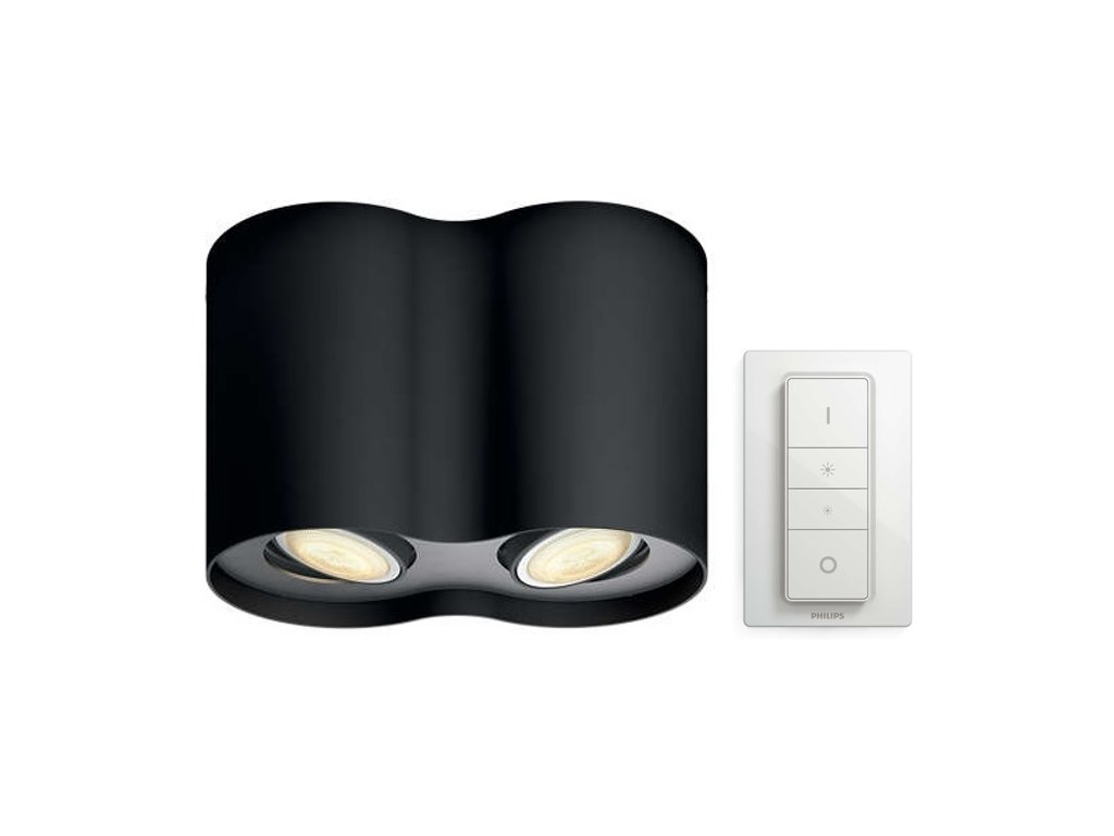 PHILIPS HUE 56332/30/P7 bodové LED svítidlo Pillar 2x5,5W 2200-6500K