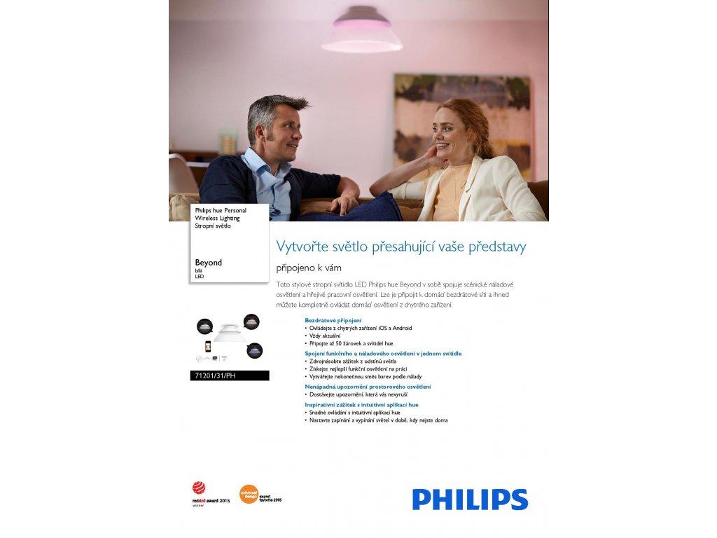 PHILIPS HUE 71201/31/PH stropní LED svítidlo Beyond 4x4,5W RGB