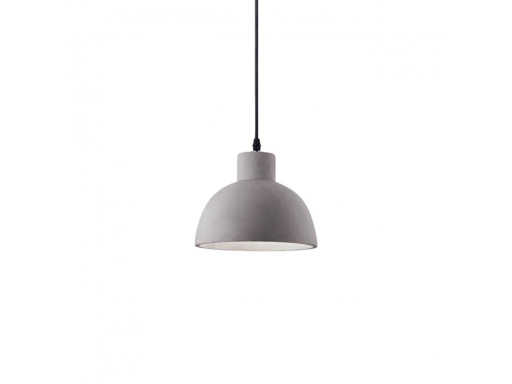 IDEAL LUX 129082 cementový závěsný lustr Oil 5 SP1 1x60W E27