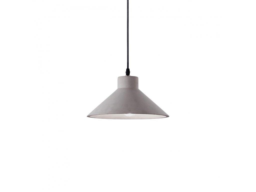 IDEAL LUX 129099 cementový závěsný lustr Oil 6 SP1 1x60W E27