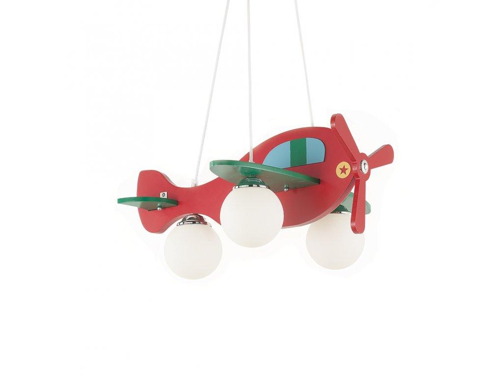 IDEAL LUX 136318 dětský závěsný lustr Avion 1 SP3 3x40W E14