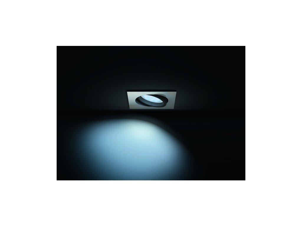 PHILIPS HUE 50421/48/P8 vestavné svítidlo Milliskin 1x5,5W GU10 2200-6500K