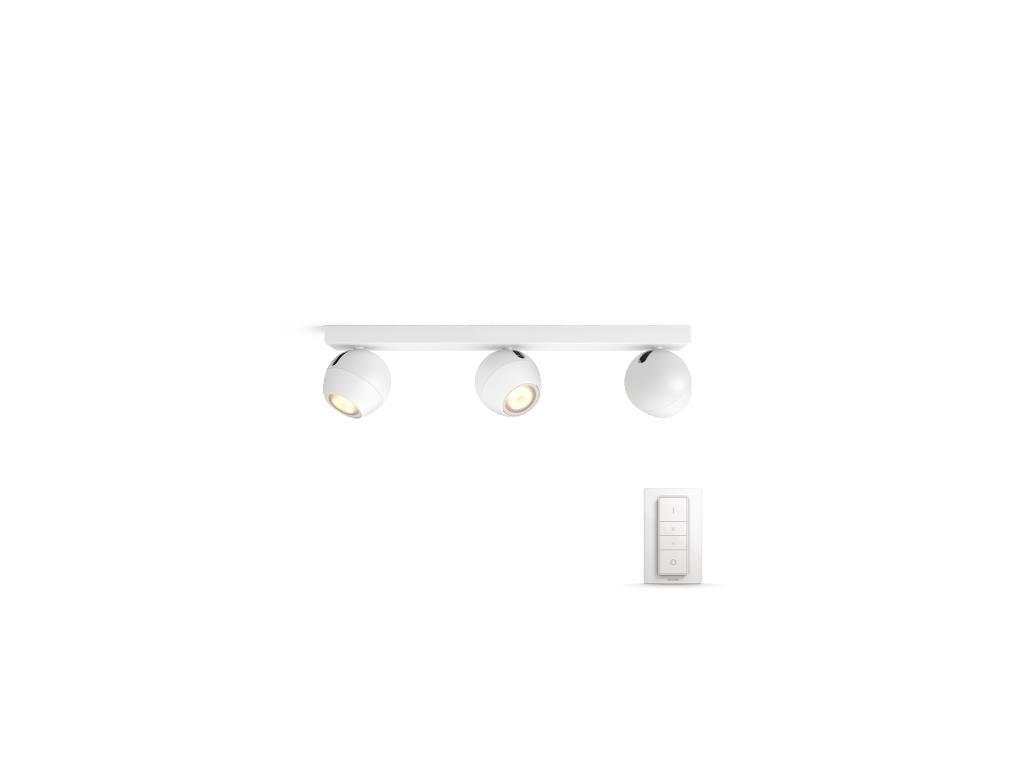 PHILIPS HUE 50473/31/P7 bodové LED svítidlo Buckram 3x3,5W 2200-6500K