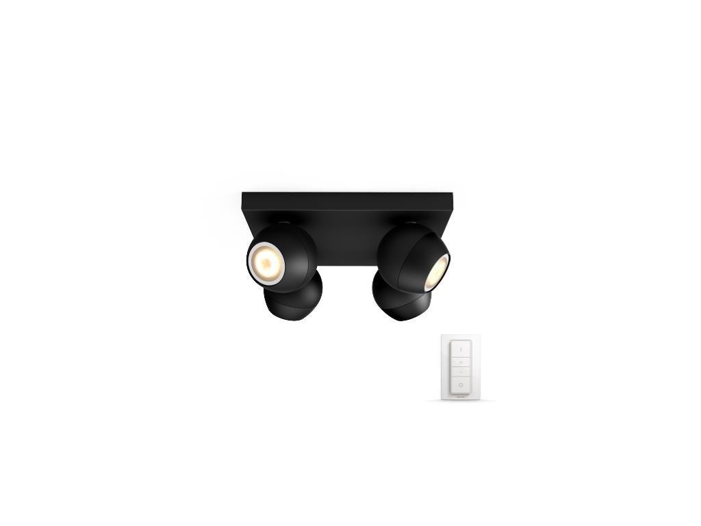 PHILIPS HUE 50474/30/P7 bodové LED svítidlo Buckram 4x3,5W 2200-6500K