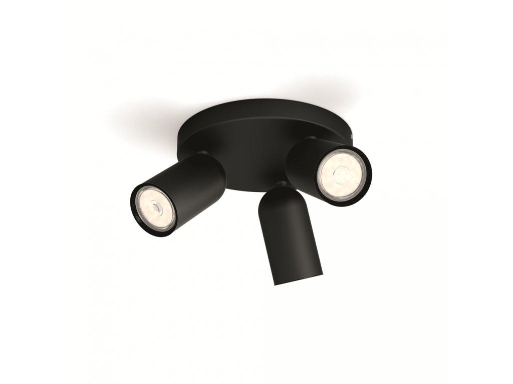 PHILIPS 50583/30/PN bodové svítidlo Pongee 3x10W GU10
