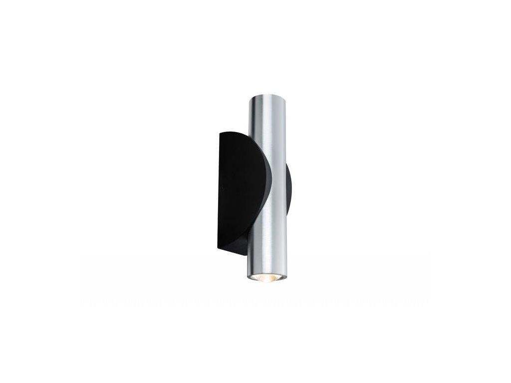 PAULMANN - Nástěnné svítidlo Special Line Flame kulaté LED hliník kartáč./černá 2x3,2W, P 18004
