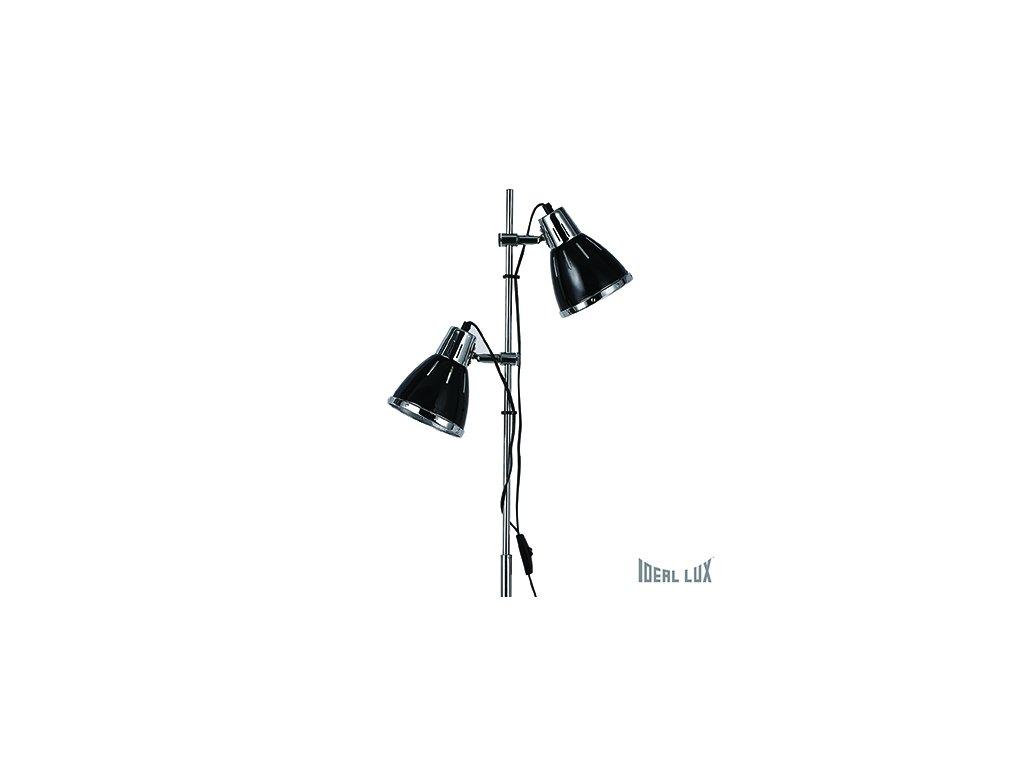 IDEAL LUX 001197 stojací lampa Elvis PT2 černá 2x60W E27