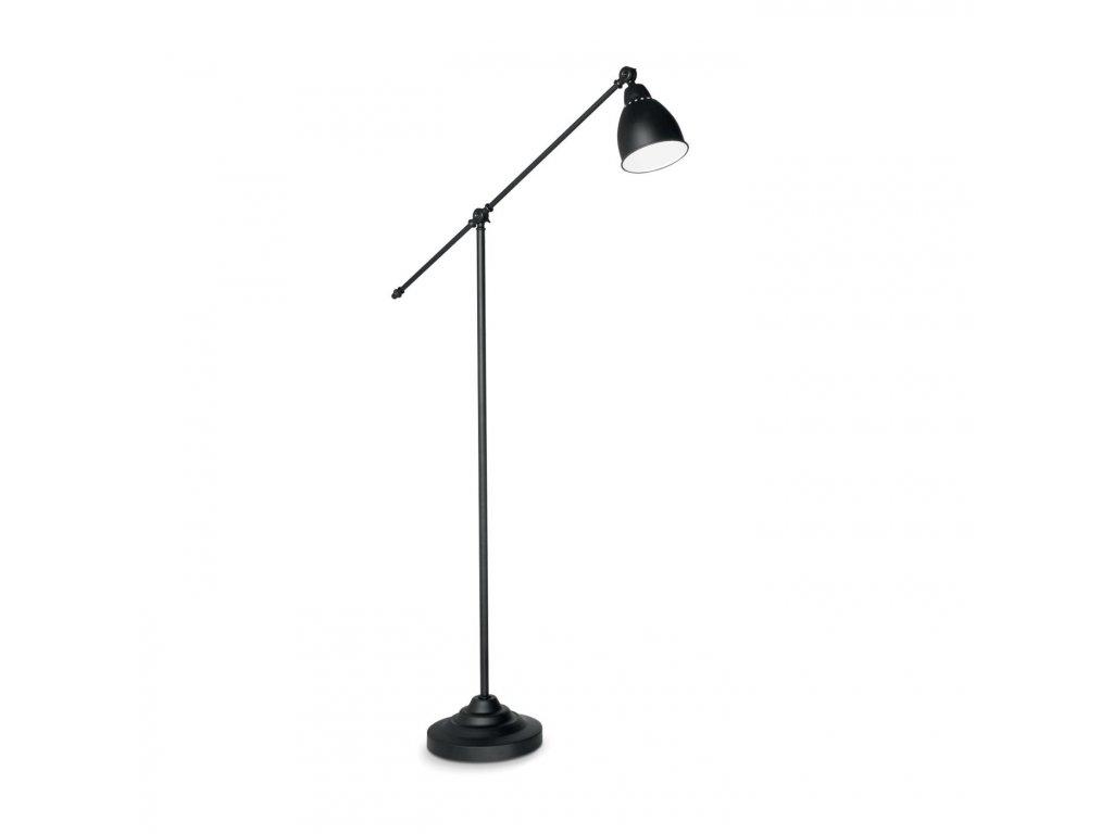 IDEAL LUX 003528 stojací lampa Newton PT1 Nero 1x60W E27