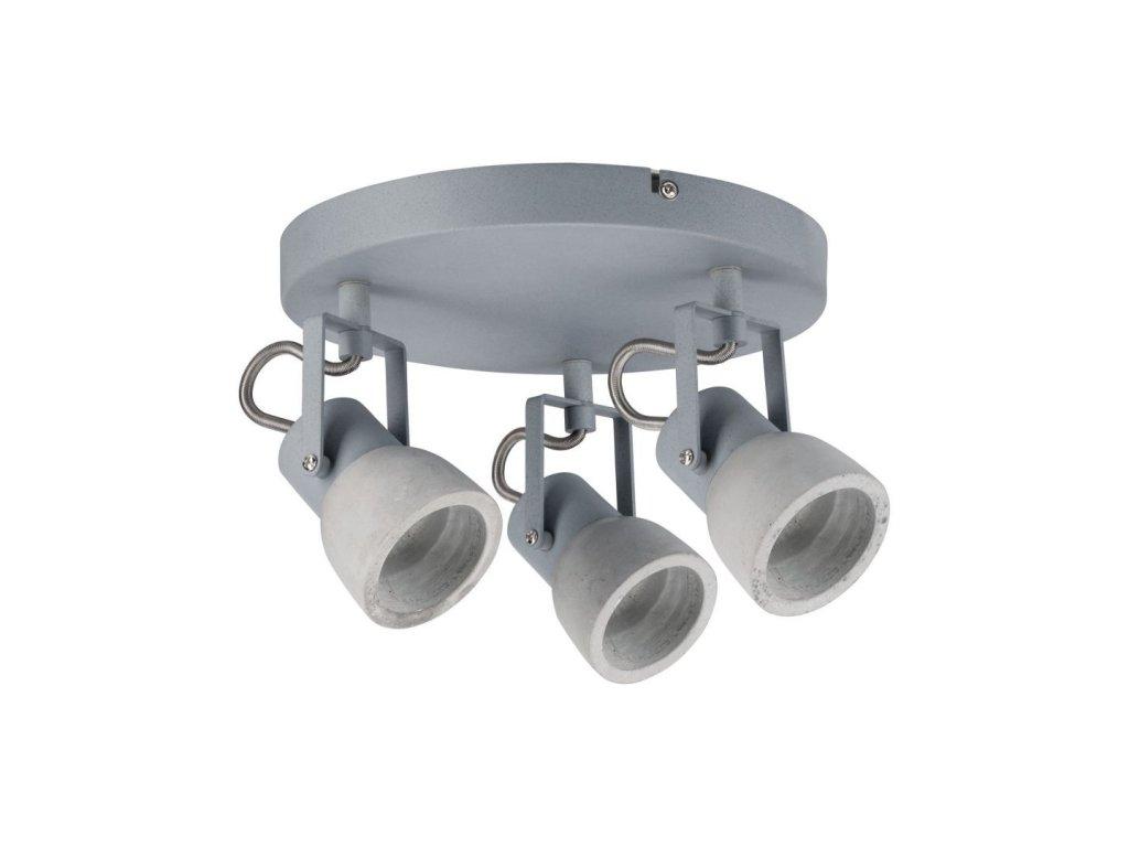 PAULMANN - Bodové svítidlo Ogma Rondell beton max. 3x10W, P 66741