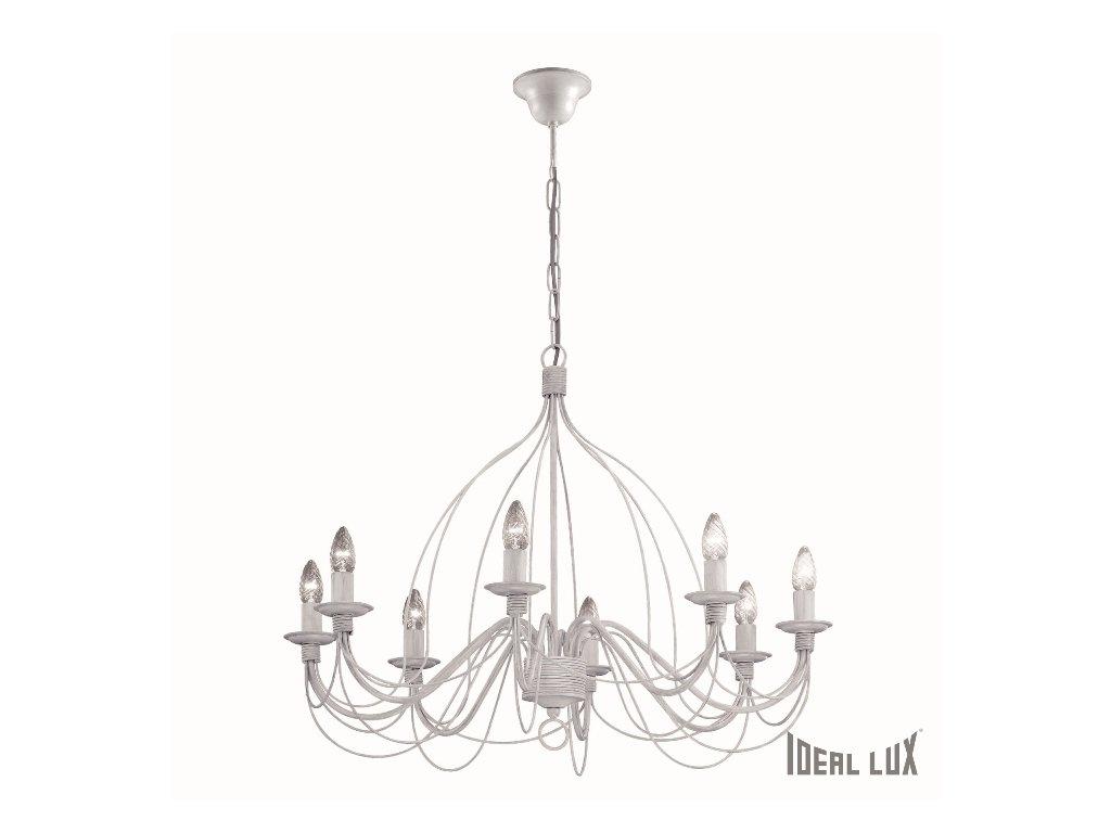 IDEAL LUX 005898 lustr Corte SP8 Bianco 8x40W E14