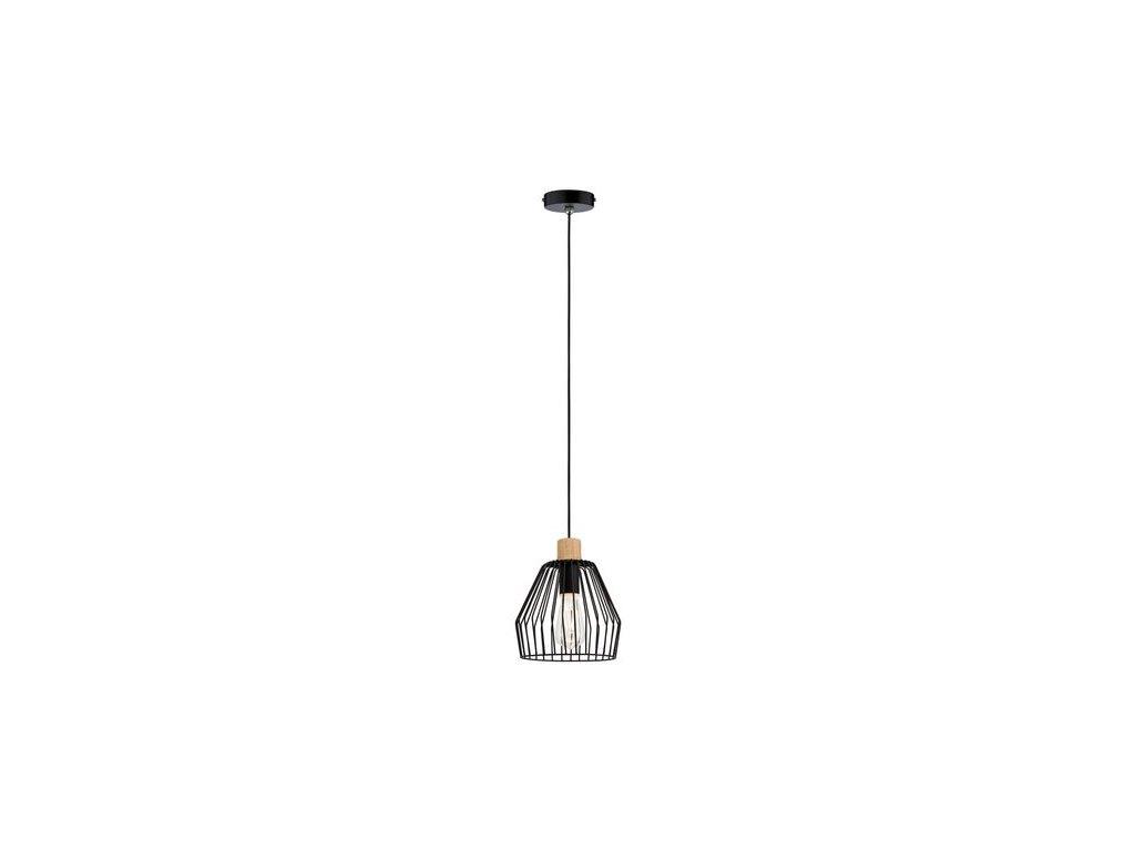 PAULMANN - Závěsné svítidlo Cameo IP44 E27 20W dřevo / černá, P 70891