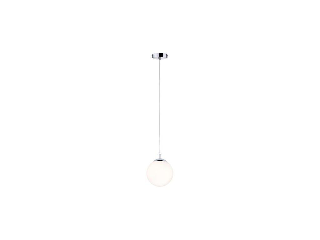 PAULMANN - Závěsné svítidlo Globe IP44 E27 20W satin / chrom, P 70895