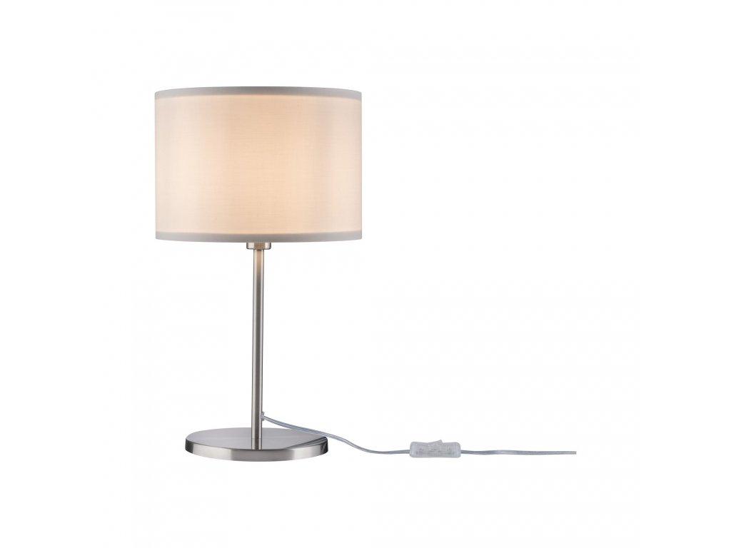 PAULMANN - Tessa stolní lampa Creme/kov kartáčovaný bez zdroje světla, max. 40W E14, P 70923