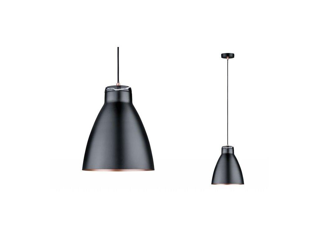 Závěsné svítidlo Neordic Roald černá / měď / mramor - PAULMANN P 79609