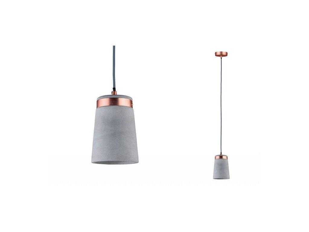 PAULMANN - Závěsné svítidlo Neordic Stig měď / beton max.20W, P 79617