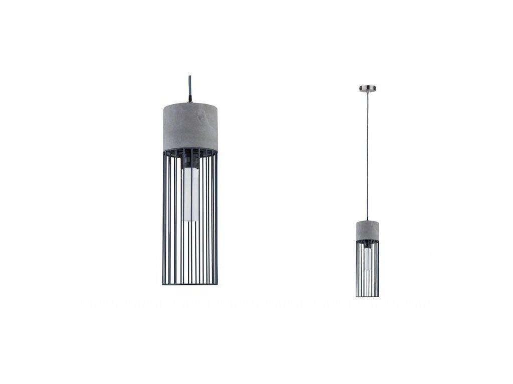Závěsné svítidlo Neordic Henja kartáč.kov/ beton - PAULMANN P 79618