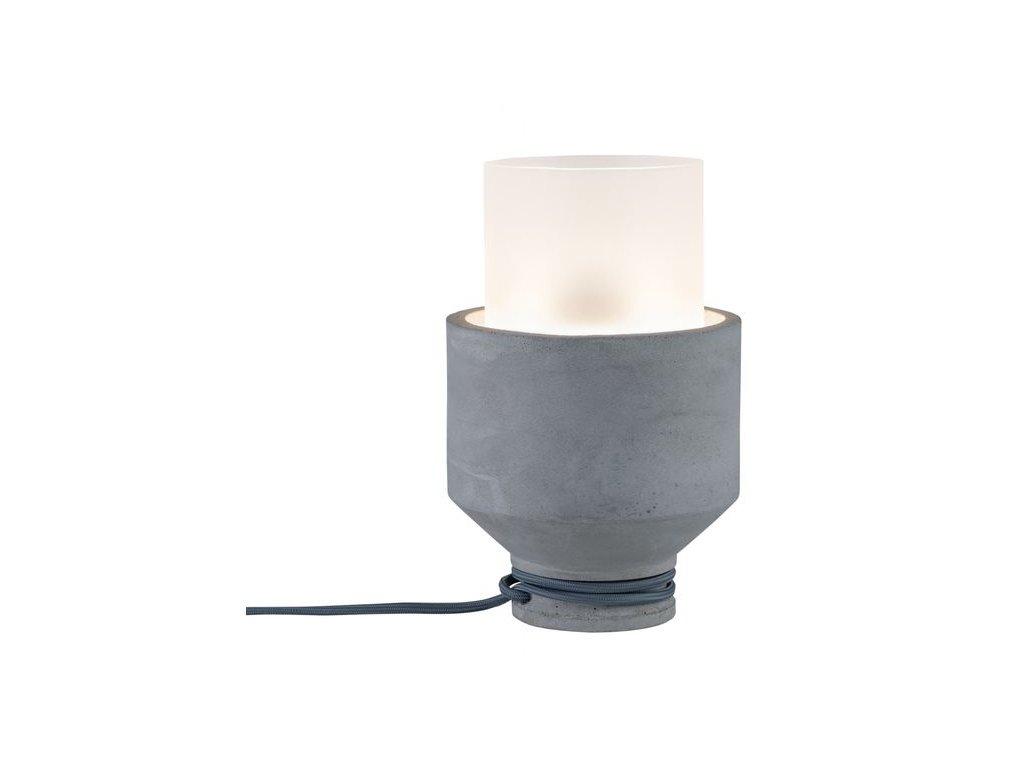 PAULMANN - Stolní lampa Neordic Helin sklo / beton, P 79619