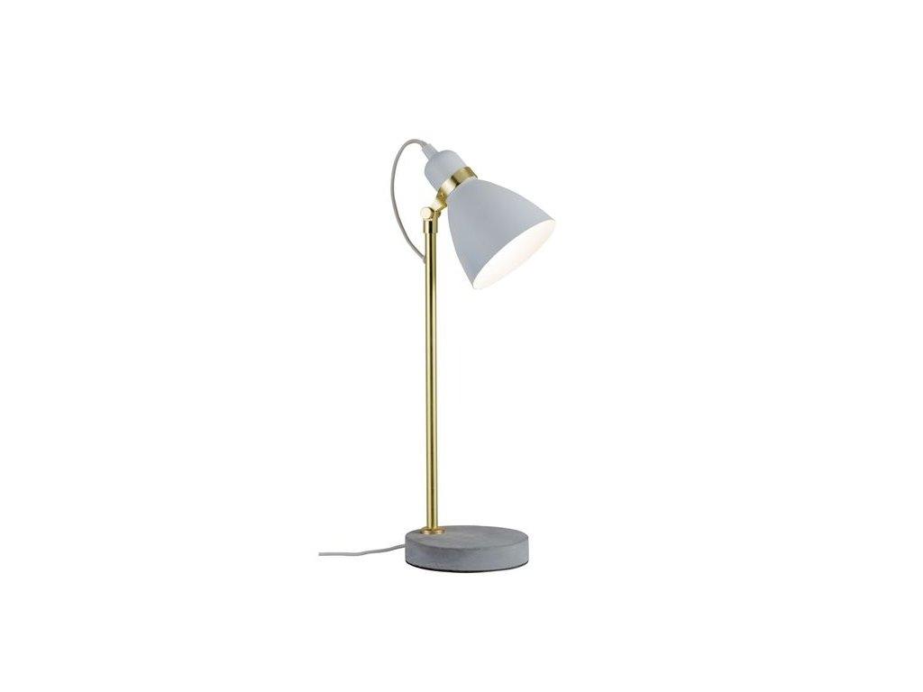 PAULMANN - Stolní lampa Neordic Orm bílá / zlatá / beton, P 79623