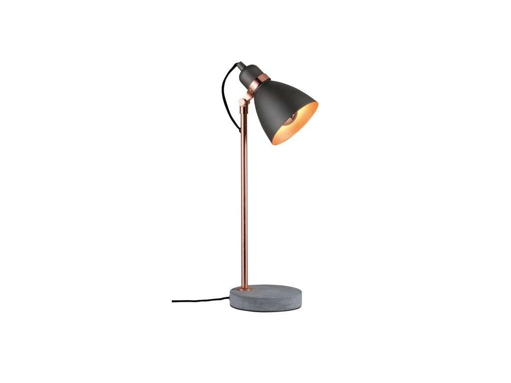 PAULMANN - Stolní lampa Neordic Orm měď / beton, P 79624
