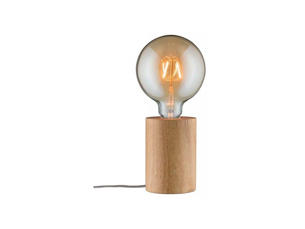 PAULMANN - Stolní lampa Neordic Talin dřevo, P 79640