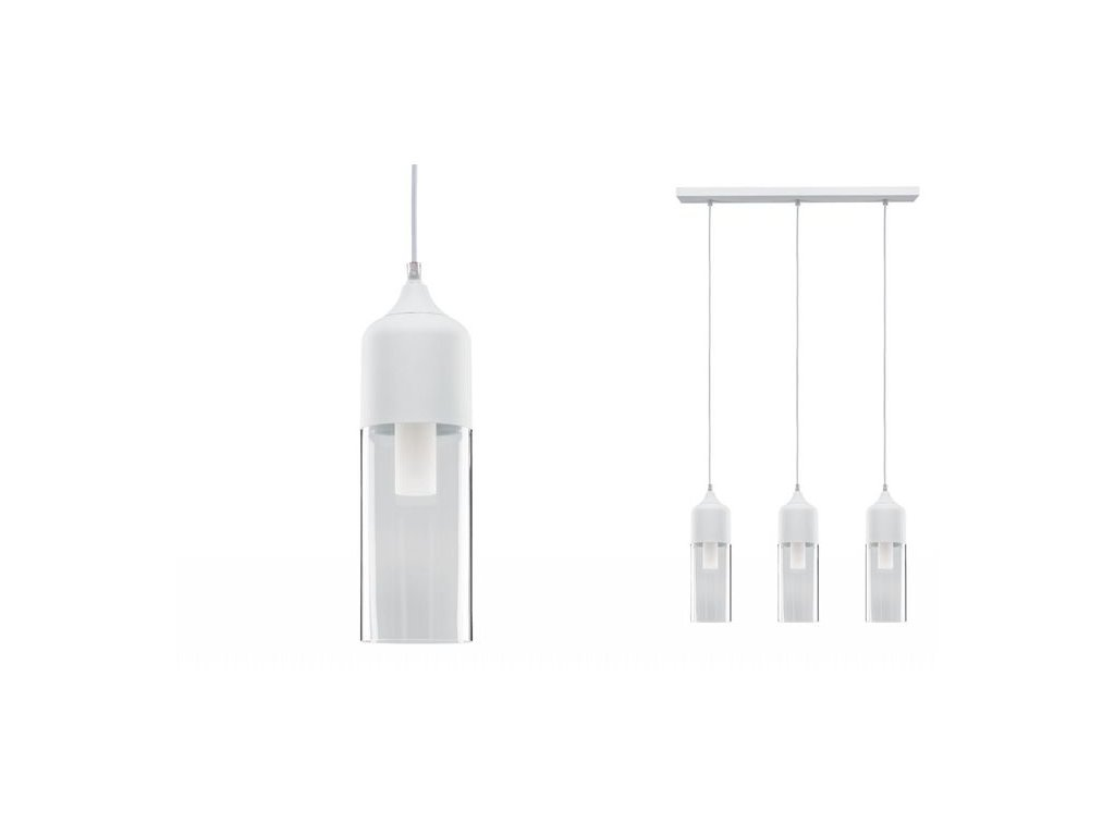 Závěsné svítidlo Neordic Vanja sklo / bílá - PAULMANN P 79643