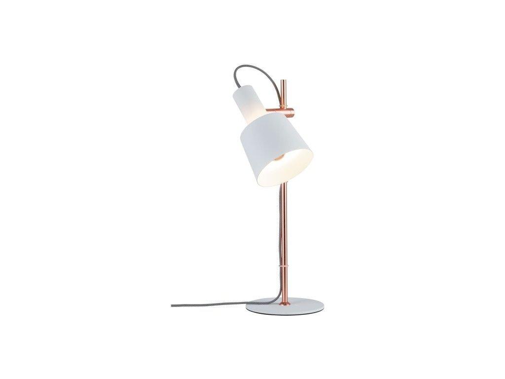 PAULMANN - Stolní lampa Neordic Haldar bílá / měď, P 79658