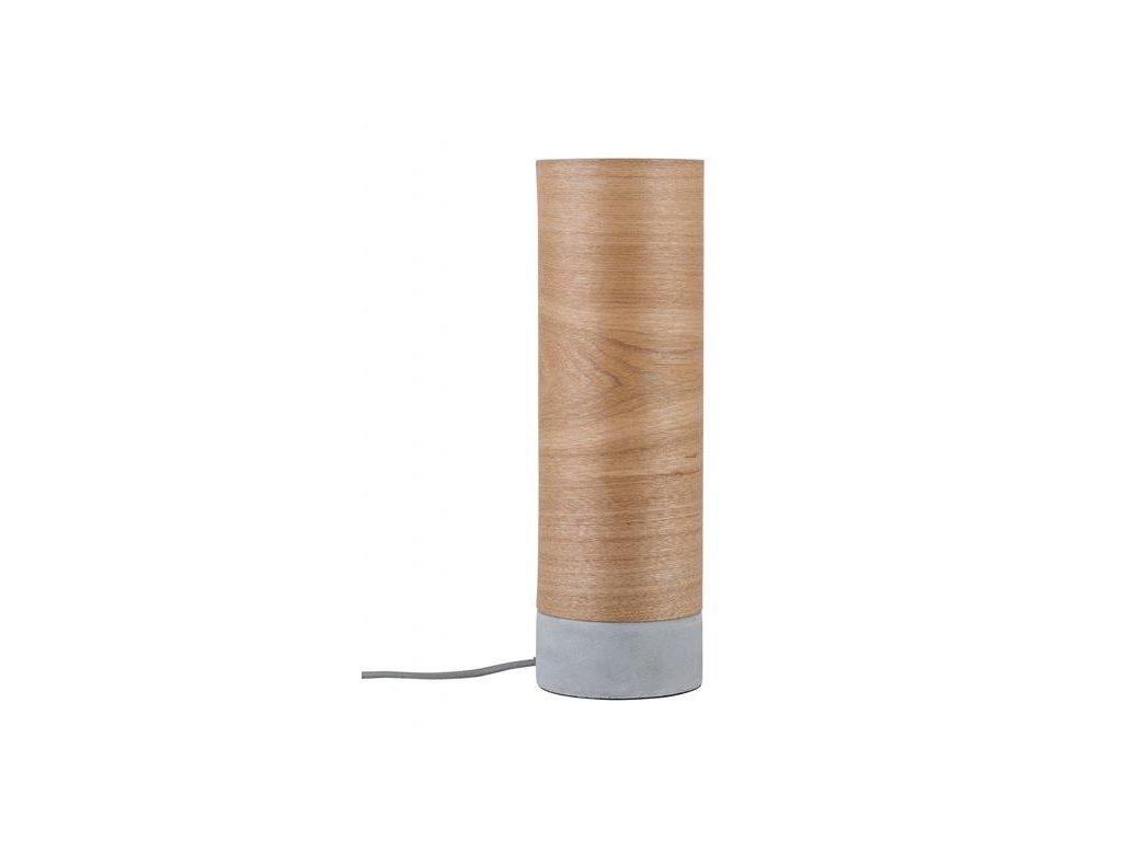 PAULMANN - Stolní lampa Neordic Skadi dřevo / beton, P 79664