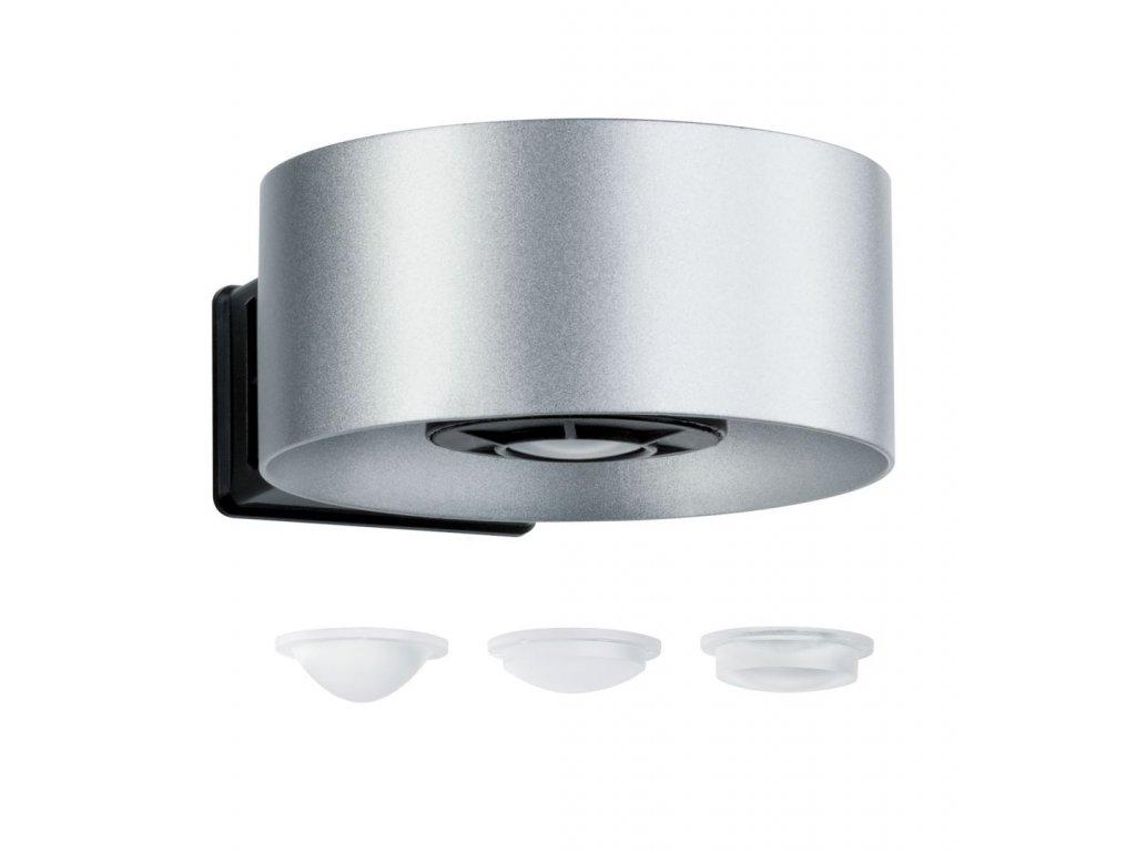 Nástěnné svítidlo House Cone IP44 2x 6W 510lm stříbrná / antracit - PAULMANN P 79675