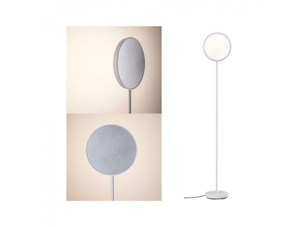 PAULMANN - LED stojací svítidlo Arik 17W bílá/hliník kartáčovaný stmívatelné, P 79707