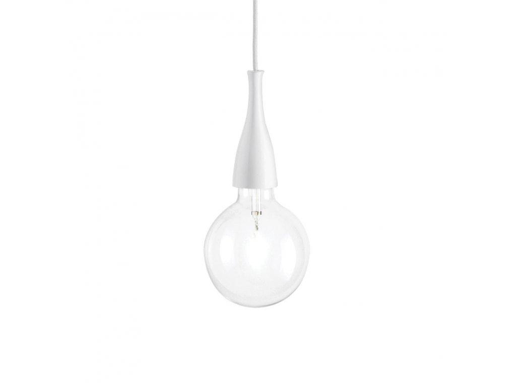 IDEAL LUX 009360 závěsné svítidlo Minimal SP1 Bianco 1x70W E27