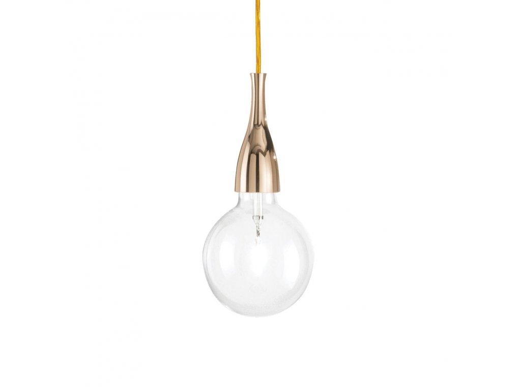 IDEAL LUX 009391 závěsné svítidlo Minimal SP1 Oro 1x70W E27
