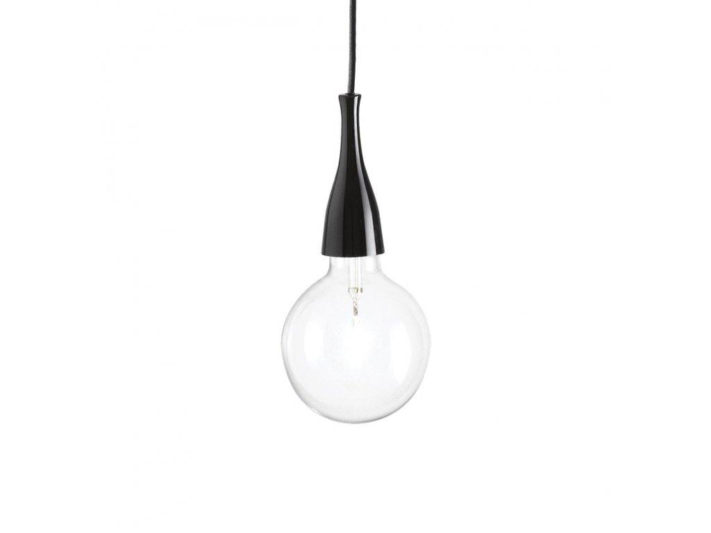 IDEAL LUX 009407 závěsné svítidlo Minimal SP1 Nero 1x70W E27