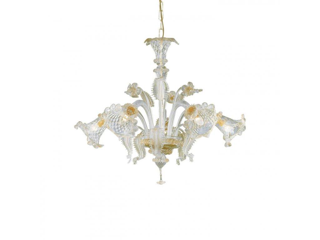 IDEAL LUX 009704 lustr Rialto SP5 Ambra 5x40W E14