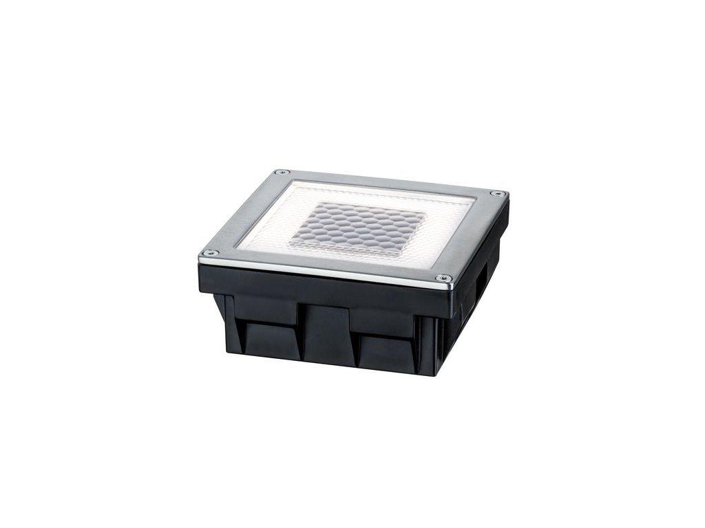 PAULMANN - Zemní zápustné svítidlo Solar Cube LED, incl. 1x0,24 W, 3,6lm, 2700K, ušlecht.ocel 1ks, P 93774