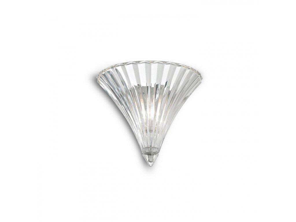IDEAL LUX 013060 nástěnné svítidlo Santa AP1 Small Trasparente 1x40W E14