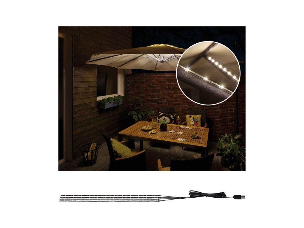 Mobile Strip Parasol-Light LED pásky 4ks sada osvětlení slunečníku, 4x40cm - PAULMANN P 94208