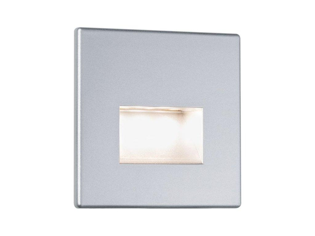 PAULMANN - Zápustné svítidlo do stěny LED Edge matný chrom vč.1,1W, 2700K
