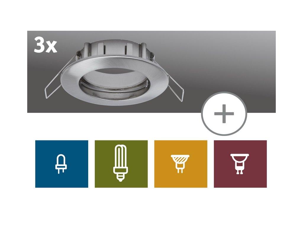 2easy Zápustné svítidlo Premium 3ks Spot-Set IP44 nevýklopné 51m - PAULMANN P 99738