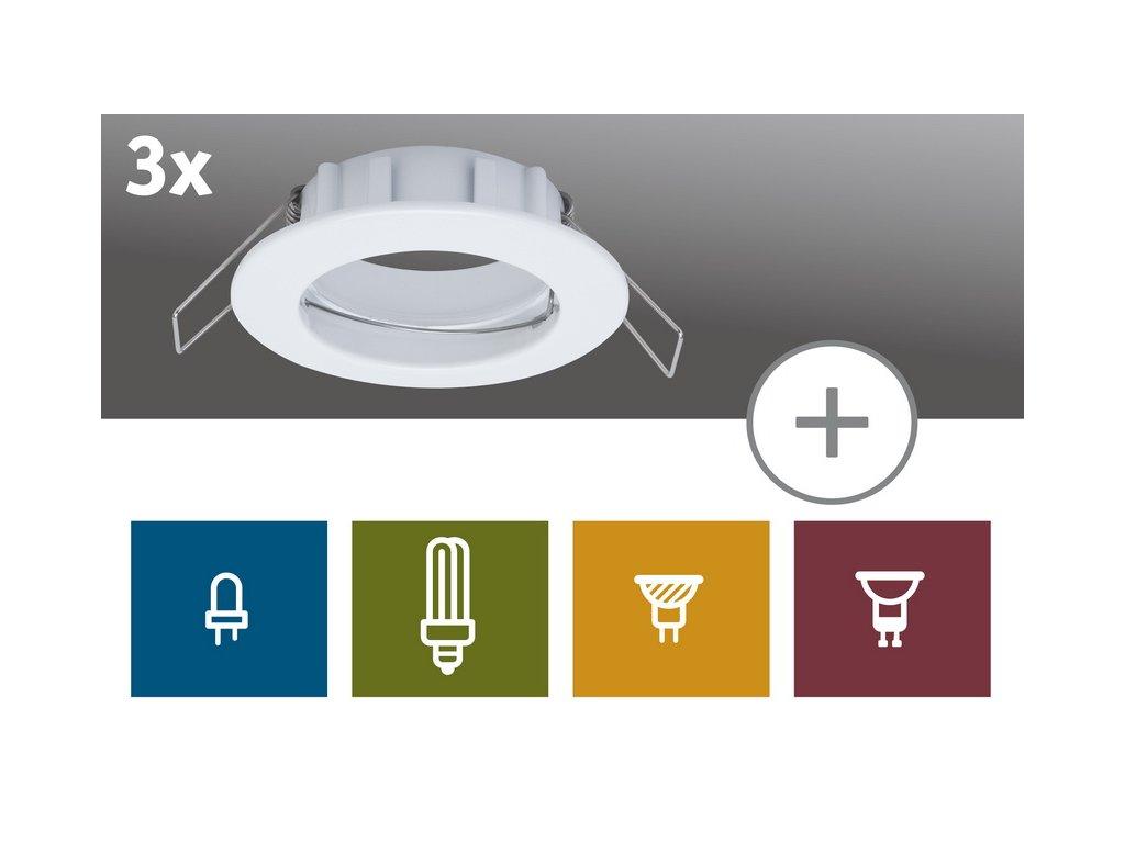 2easy Zápustné svítidlo Premium 3ks Spot-Set IP44 nevýklopné 51m - PAULMANN P 99739