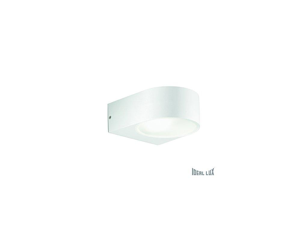 IDEAL LUX 018522 venkovní nástěnné svítidlo Iko AP1 Bianco 1x60W E27 IP44