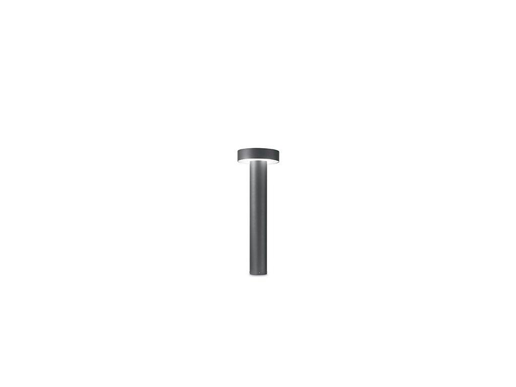 Venkovní sloupkové svítidlo Ideal Lux Tesla PT4 Small antracite 153193 šedé 60cm IP44