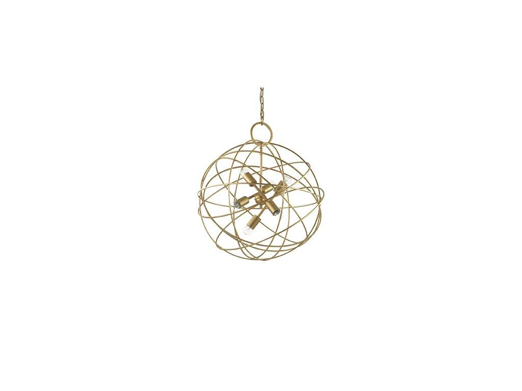 Závěsné svítidlo Ideal Lux Konse SP6 oro 156026 zlaté 60cm