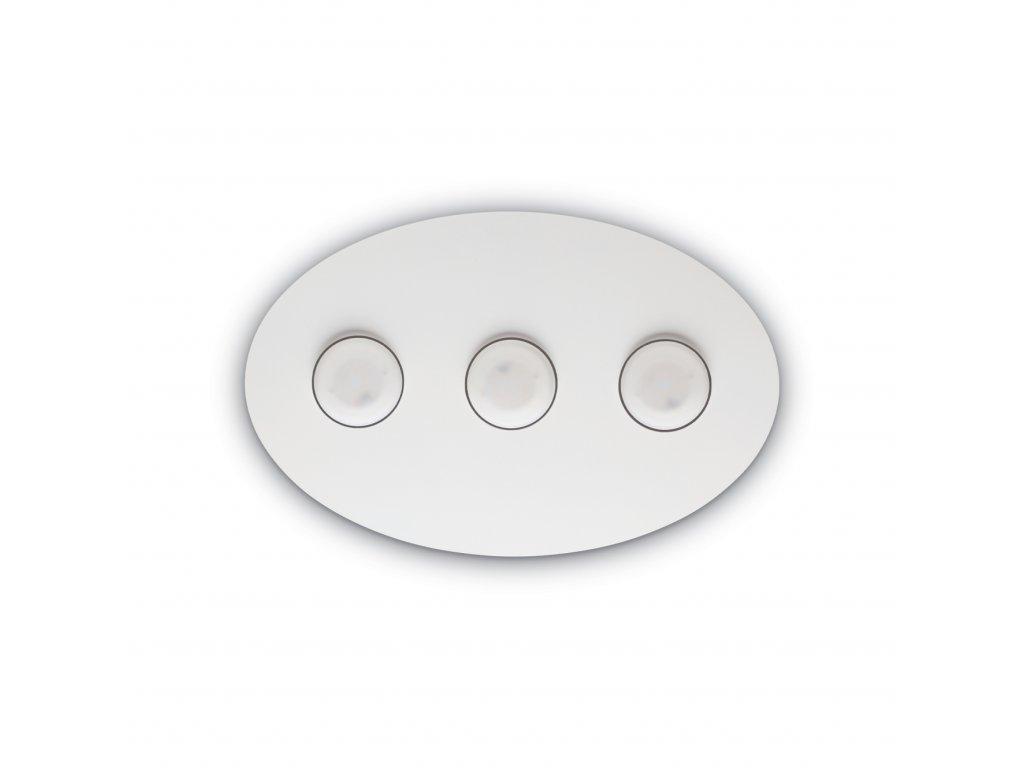IDEAL LUX - Stropní a nástěnné svítidlo Logos PL3 bianco 175768 45cm