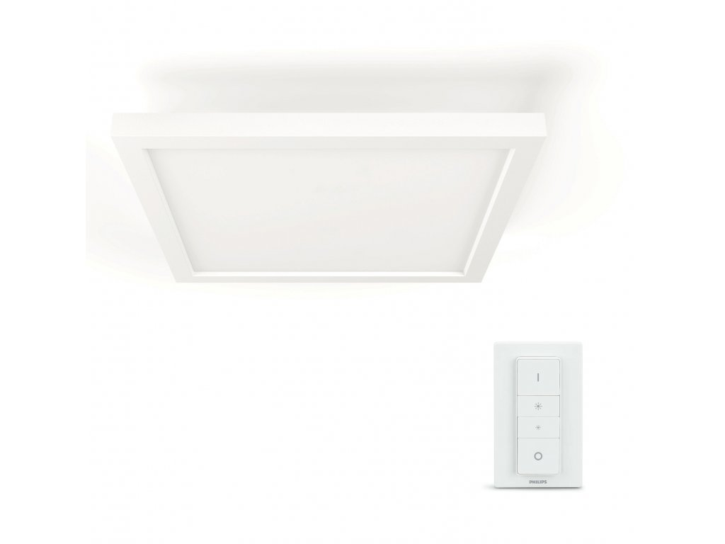 Hue White Ambiance LED panel Philips Aurelle 32161/31/P5 bílý čtverec 30x30cm