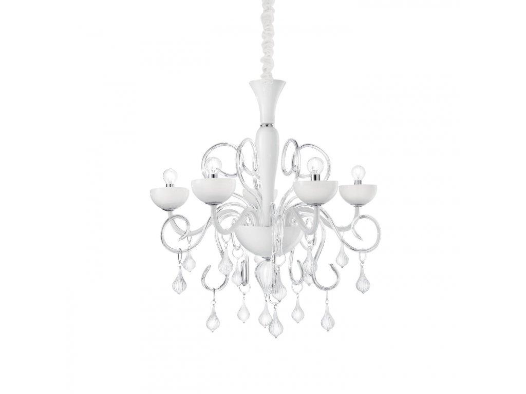 IDEAL LUX 022789 lustr Lilly SP5 Bianco 5x40W E14