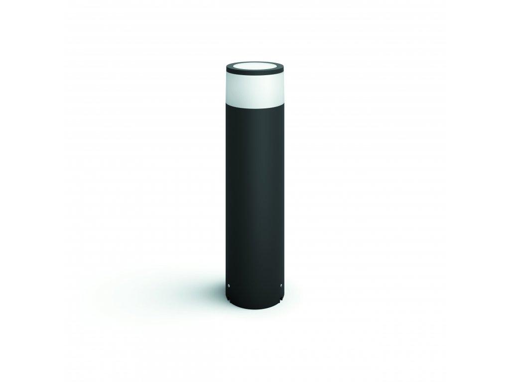 Hue LED White and Color Ambiance Venkovní sloupkové svítidlo Philips Calla 17451/30/P7 černé 40cm 2200K-6500K RGB s adaptérem