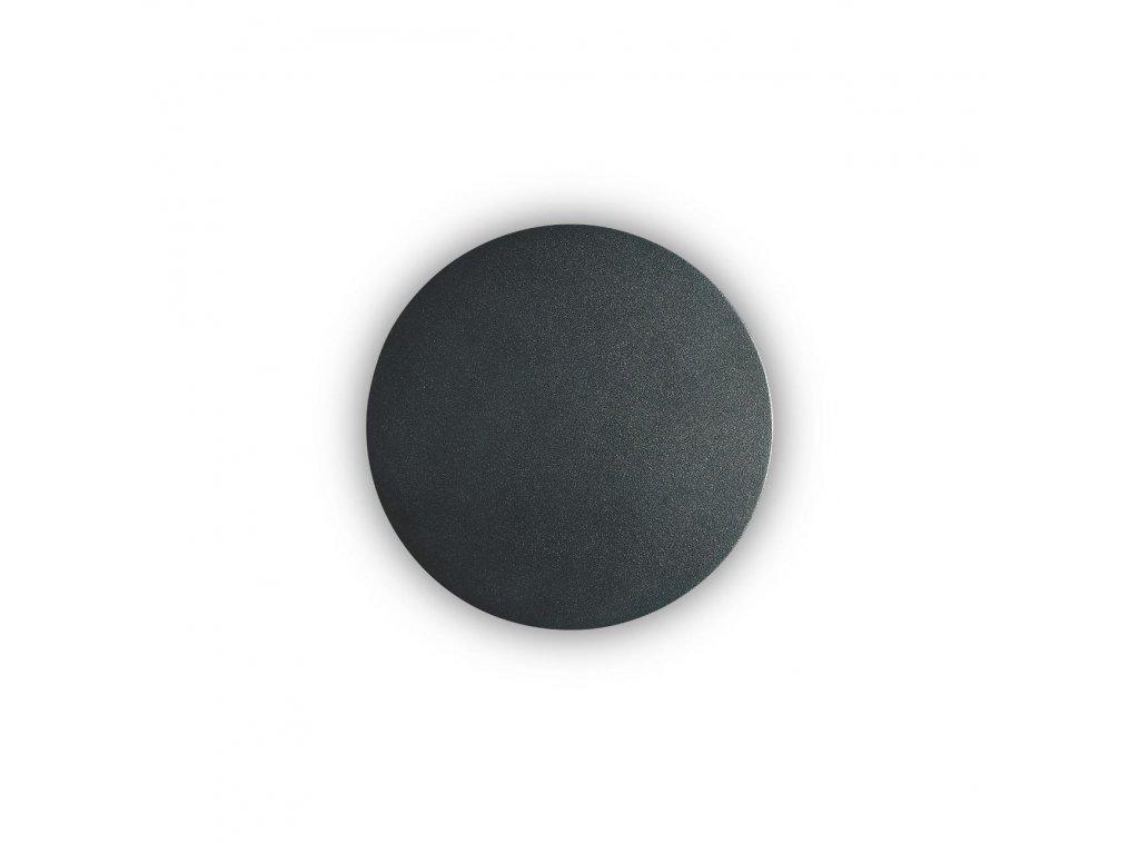 IDEAL LUX - LED Nástěnné svítidlo Cover AP1 round small nero 195742 kulaté černé 15cm