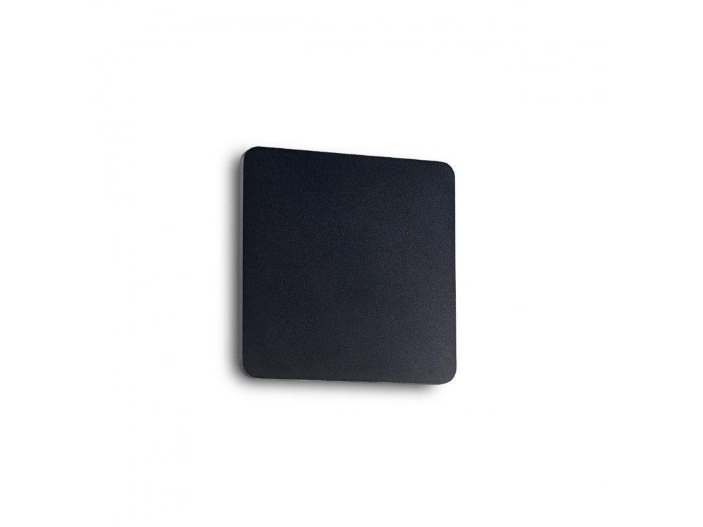 IDEAL LUX - LED Nástěnné svítidlo Cover AP1 square small nero 195766 hranaté černé 15cm