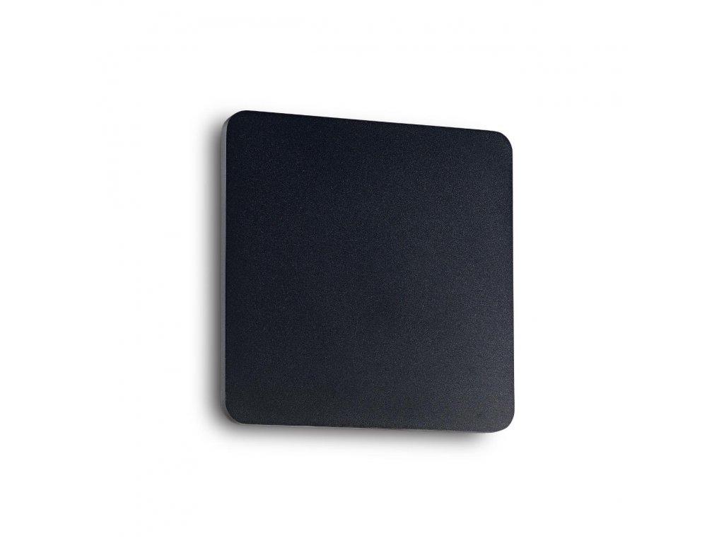 IDEAL LUX - LED Nástěnné svítidlo Cover AP1 square big nero 195773 hranaté černé 20cm